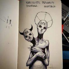 La preocupación por la opinión del resto a menudo lleva a ensalzar la propia figura de manera exagerada, lo que puede comportar en el trastorno narcisista, por el que también se pierde toda empatía hacia los demás.  Así es un narcisista: un humano que se cree dios.