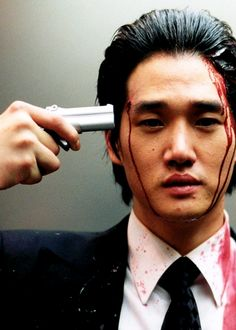 Oldboy 2003 (dir. Park Chan-wook). Do not watch the american version this one is fantastic.