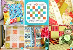 Patchwork pillows with tutes