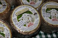 Los Beyos ewes' milk cheese, a relative rarity in Asturias.  Photograph by Gerry Dawes©2009; gerrydawes@aol.com / Facebook / Twitter. Spanish Cheese, Sheep Cheese, Milk And Cheese, How To Make Cheese, Rarity, Queso, Cow, Stuffed Mushrooms, Photograph