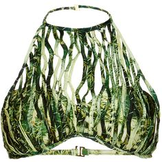 Agua de Coco Netted Cactus Apron Top ($580) ❤ liked on Polyvore featuring tops and bikinis