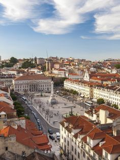 Greetings Card-View over Rossio square Praca Dom Pedro IV, Lisbon, Portugal-Photo Greetings Card made in the USA Visit Portugal, Spain And Portugal, Great Places, Beautiful Places, Vacation List, Sea Activities, Portuguese Culture, Travel Images, Places Around The World