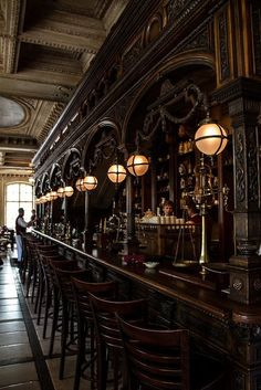 cafe restaurant Cafe Pushkin Apothecary Bar space between the bartender and customer Cafe Bar, Cafe Restaurant, Pub Bar, Restaurant Design, Moscow Restaurant, Modern Restaurant, Pub Design, Bar Interior Design, Back Bar Design