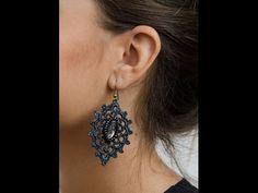 Tutorial orecchini circolari all'uncinetto | Simple crochet earrings tutorial - YouTube