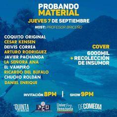 """""""Probando Material"""" vuelve a La Quinta Live Music Bar http://crestametalica.com/evento/probando-material-vuelve-unidos-por-choroni-a-la-quinta-live-music-bar/ vía @crestametalica"""