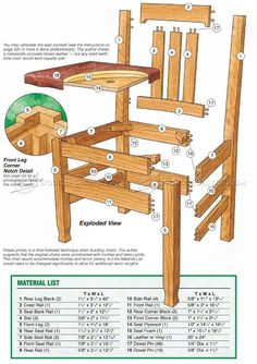 Dining Room Chair Plans - Furniture Plans