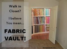 Walk in Fabric VAULT!!! LIKE us on FaceBook: https://www.facebook.com/SunnysideQuilts OR visit our STORE:http://stores.ebay.com/sunnysidequilts