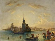 Auguste Finke: Istanbul aus unserer Rubrik: Gemälde des 19. Jahrhunderts