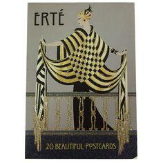 Erte designer famous for his elegant fashion designs which capture the art deco period Erte Art, Art Deco Artists, Art Deco Fashion, Fashion Design, Postcard Art, Art Deco Era, French Artists, Illustrations, Vintage Advertisements