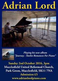 Album launch concert next weekend! #Piano #Concert #Recital #Macclesfield #ThingsToDo #2ndOctober #Sunday #Cheshire