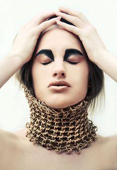 Photographer: LaraJade MUA & Hair: LaraJade Model & Styling: Nicola White Body Adornment made by Nicola White,
