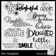 Discover and share Mother Daughter Quotes For Graduation. Explore our collection of motivational and famous quotes by authors you know and love. Scrapbook Letters, Scrapbook Titles, Scrapbook Journal, Mother Daughter Quotes, To My Daughter, Daughters, Valentine Words, Journal Writing Prompts, Drawing Journal