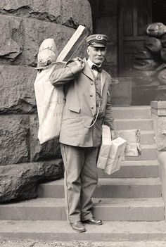 Mail Man Here we present an impressive image of Mail Man. It was made in 1914 by Harris & Ewing.