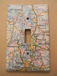 map switch plate cover