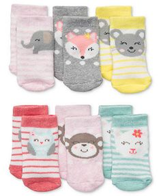 Macy's Carter's Baby Socks, Baby Girls 6-Pack Socks