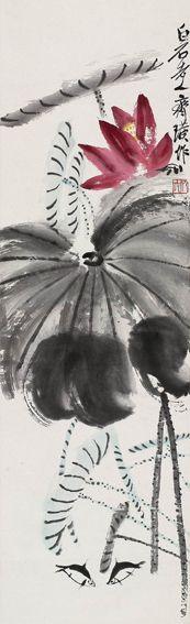 Qi Baishi, painting of lotus