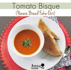 Tomato Bisque Recipe (Panera Bread Fake-Out) {Freezer Meal} Tomato Bisque Recipe, Tomato Bisque Soup, Panera Bread, Slow Cooker Recipes, Soup Recipes, Cooking Recipes, Cooking Ideas, Healthy Recipes, Bon Appetit