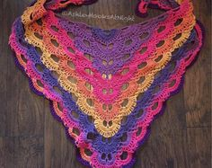 Crochet Virus Shawl Wrap, Virus shawl multi colored, crochet scarf, crochet wrap
