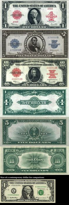 How U.S. currency looked in 1923