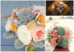 in love with succulent bouquets after nicoles wedding introduced them to me! #succulent bouquet #wedding #weddingbouquet