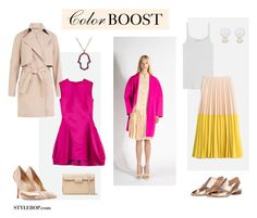 """""""Color Boost"""" by stylebop ❤ liked on Polyvore featuring Sophie Bille Brahe, Carven, Alemdara, McQ by Alexander McQueen, Marc by Marc Jacobs, Paul Andrew, Velvet, Cédric Charlier, Rochas and Maison Margiela"""
