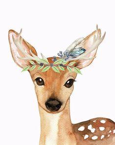 Blue Feather Woodland Boho Deer by Pink Forest Cafe – drawing – Bilder Hirsch Wallpaper, Deer Wallpaper, Baby Animal Drawings, Cute Drawings, Deer Drawing, Mom Drawing, Wall Drawing, Drawing Ideas, Deer Wall Art
