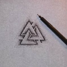 Valknut. I really like this and think it would be a sick tattoo on the inner wrist.
