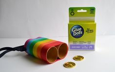 Go in search of Leprechauns with a special set of Leprechaun Binoculars! Designer Dawn shows you how to make them.