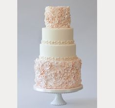 Blush Wedding Cakes for the Discriminating Bride - Mon Cheri Bridals