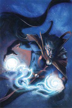 Dr. Strange by Gabriele Dell'Otto #GabrieleDell'Otto #DoctorStrange #StephenStrange #SorcererSupreme #Avengers #TheDefenders #Illuminati #CloakofLevitation #EyeofAgamotto