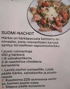 Suomi-nachot härkis ruissipsit salsa juustoraaste (korianteri) nachot illanistujaiset