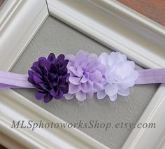 Hey, I found this really awesome Etsy listing at https://www.etsy.com/listing/186229024/purple-lavender-white-baby-girl-headband
