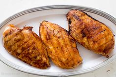 How to grill boneless skinless chicken breasts so they stay juicy and don't get dried out.