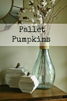Little House of Four: Pallet Pumpkins