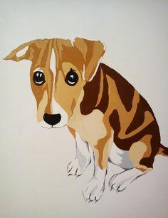 Pet Portrait Canvas by Bearinminddesign on Etsy, £50.00