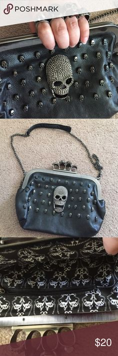 Skull clutch purse Can be used as a clutch or purse straps removable Bags Mini Bags