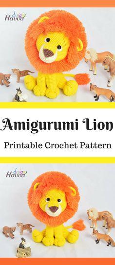 Amigurumi Lion Crochet Pattern Printable PDF #ad #amigurumi #amigurumidoll #amigurumipattern #amigurumitoy #amigurumiaddict #crochet #crocheting #crochetpattern #pattern #patternsforcrochet #printable #instantdownload #pdf #crochettoys #lion
