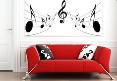 Music Notes Wall Sticker bedroom kitchen art vinyl decal Transfer Graphic Mural. £14.99, via Etsy.