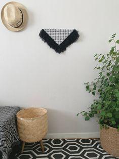 Lyra | Handmade Fiber wall art | Contemporary wall art | Triangular Wall hanging | Fiber canvas art | Fabric art | Modern fiber | Home Décor