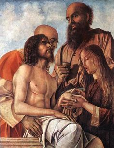 God the Father Vatikanische Museen, Pinakothek, Trauer um den toten Christus von Giovanni Bellini (Lament over the dead Christ by Giovanni Bellini) Catholic Art, Religious Art, Roman Catholic, Venetian Painters, Andrea Mantegna, Maria Magdalena, Marie Madeleine, Giovanni Bellini, Jesus Christus