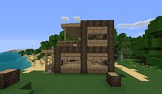 Minecraft Beach House | Small House at the beach Minecraft Project