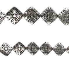 Bead Gallery® Sterling Silver-Plated Diamond Beads - Item # 10172732 - $5.99    Ideal for all your jewelry making and beading projects. Use these stylish silver-plated beads to design necklaces and bracelets, adorn clothing, embellish cards or scrapbooks, decorate everyday items and more.      Details: Sterling silver-plated; diamond shape; 16 mm bead; 7 beads