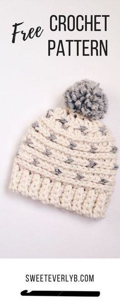 A free crochet beanie pattern the whole family will love. I love the neutral colors!