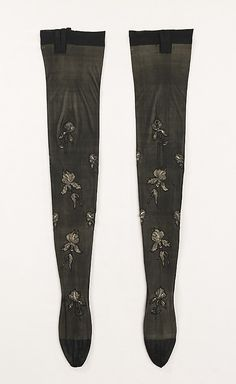 Stockings, 1900-1910, French, silk. 31 inches long. Belonged to Rita de Acosta Lydig, a beauty and style icon of her time. Metropolitan Museum of Art.