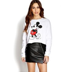 Find your favorite sweater & cardigan styles at Forever Cozy up in our oversized knits with classic crochet cardigans, ribbed sweater dresses, velvet sweatshirts, chenille tops & more! Mickey Mouse Dress, Minnie Mouse Sweatshirt, Fandom Fashion, Cardigan Fashion, Cardigans For Women, My Outfit, Outfit Ideas, Long Sleeve Tops, Cute Outfits