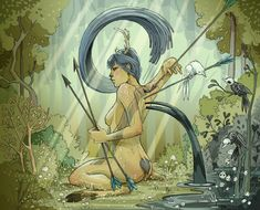 Many of her heroes and heroines are inspired by mythology and fantasy.