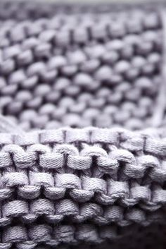 Oh garter stitch. I love the way you look all close up.