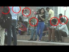 Shocking Harassing Women Experiment In Public - [Please Share for Message] Social Experiment - YouTube
