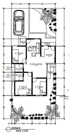 Denah Rumah Dan Tampak - Kreasi Rumah Home Design Plans, Floor Plans, House Design, How To Plan, Modern, Trendy Tree, House Design Plans, Architecture Illustrations, House Plans