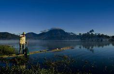 Fishing at situ cileunca